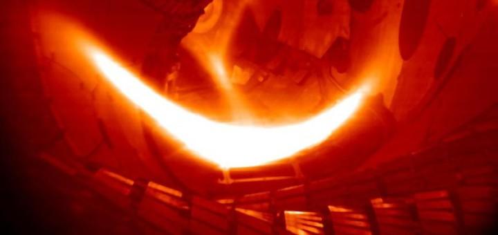E4SY Kernfusion mit Wasserstoff in der forschungsanlage des max-planck-instituts in greifswald ist das erste wasserstoff plasma erzeugt worden