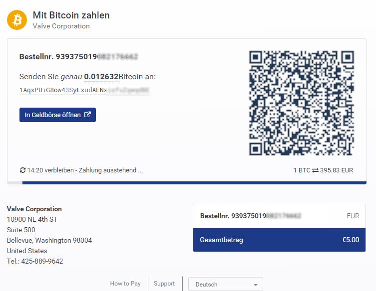 Spieleplattform Steam akzeptiert ab sofort Bitcoins als Währung