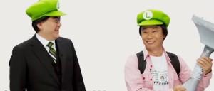 Der ehemalige Nintendo-Präsident Satoru Iwata (links) und der Entwickler Shigeru Miyamoto (rechts)