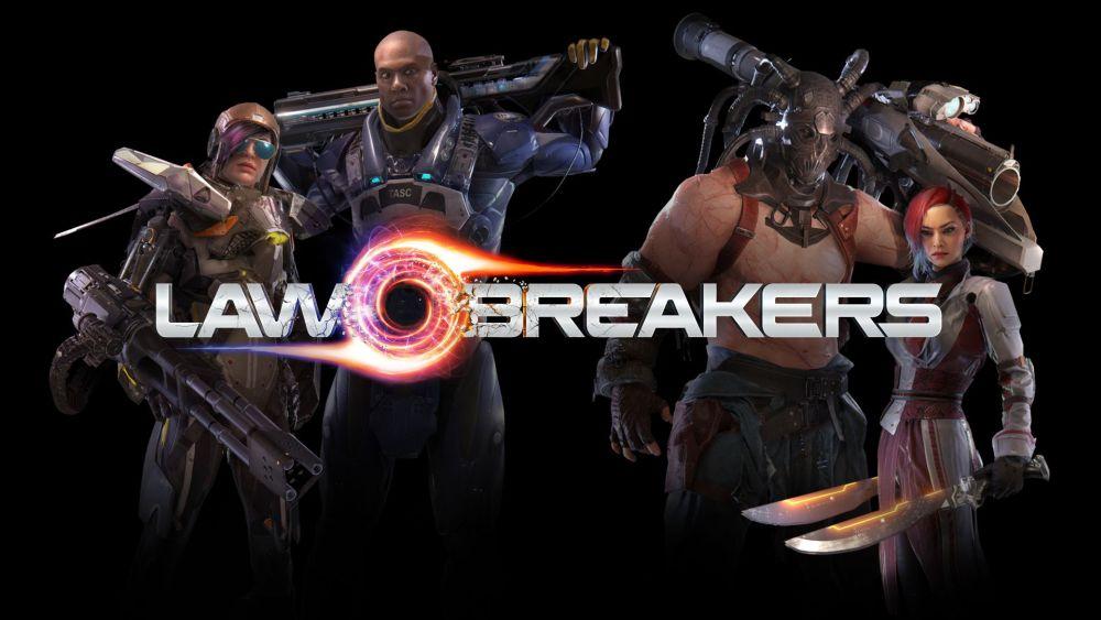 Die 4 Helden Cronos, Breacher, Maverick und Kitsune aus Lawbreakers.