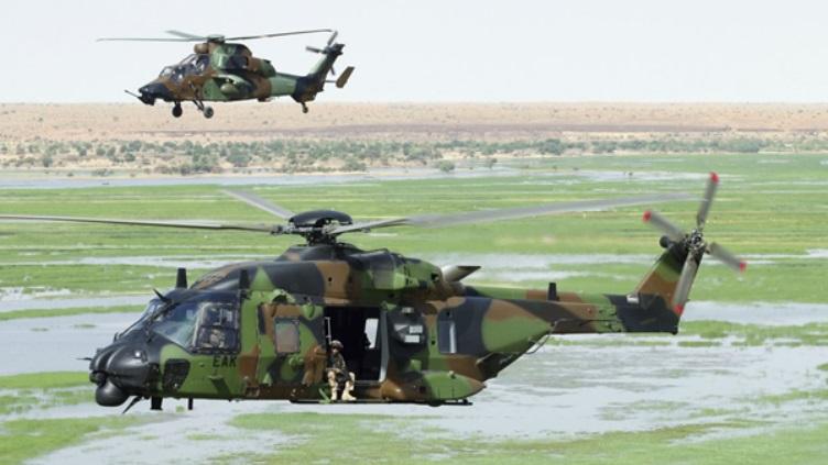 NH90 und Tiger der fränzösischen Streitkräfte (Quelle: Frederic Lert)