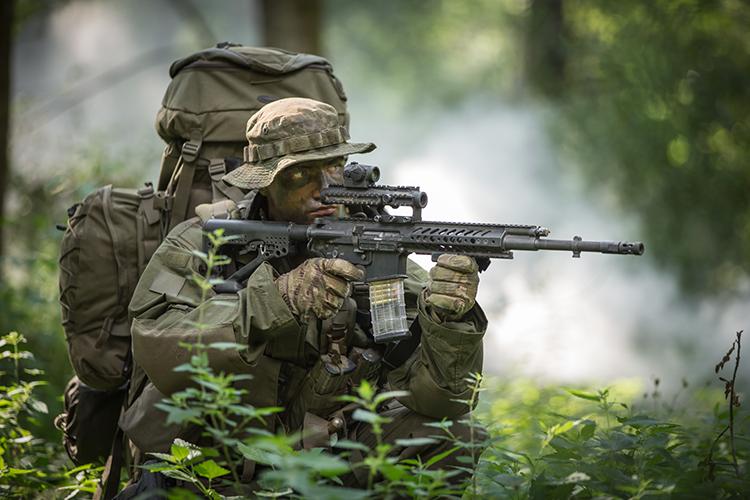 Das Stumgewehr RS 556 könnte bei der Bundeswehr das HK G36 ersetzen. (Quelle: Rheinmetall/Steyr Mannlicher)