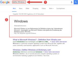 Bessere Google Suche Tipps Definitions