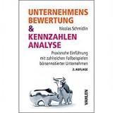 Unternehmensbewertung & Kennzahlenanalyse von Nicolas Schmidlin - Buchrezension Fundamentalanalyse Analyse Buch