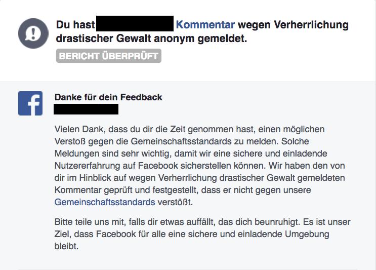 Was sind denn Facebooks interne Gemeinschaftsstandards?