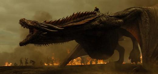 Auch Drachen sind verwundbar - Drogon brüllt vor Schmerz.