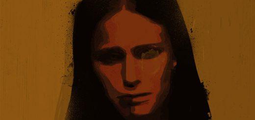 Eine verzweifelte Frau auf der dunklen Straße des Lebens